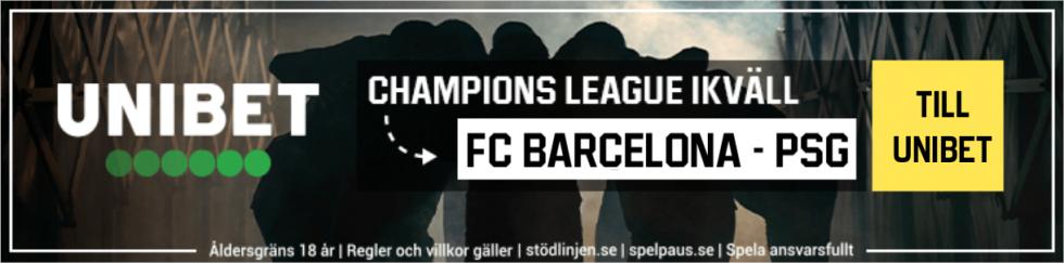 Barcelona PSG TV kanal - vilken kanal sänder Barca PSG i CL?